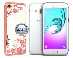 Spring dėklas nugarėlė Samsung Galaxy J3 (2016) telefonams rožinės spalvos