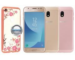 Spring dėklas nugarėlė Samsung Galaxy J3 (2017) telefonams rožinės spalvos