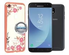 Spring dėklas nugarėlė Samsung Galaxy J5 (2017) J5 Pro telefonams rožinės spalvos