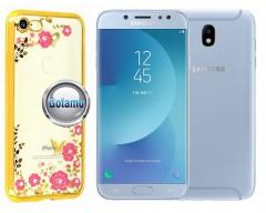 Spring dėklas nugarėlė Samsung Galaxy J7 (2017) J7 Pro telefonams aukso spalvos