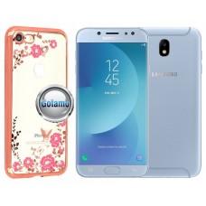Spring dėklas nugarėlė Samsung Galaxy J7 (2017) J7 Pro telefonams rožinės spalvos