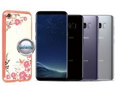 Spring dėklas nugarėlė Samsung Galaxy S8 telefonams rožinės spalvos