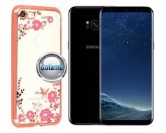 Spring dėklas nugarėlė Samsung Galaxy S8+ telefonams rožinės spalvos