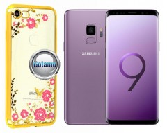 Spring dėklas nugarėlė Samsung Galaxy S9 telefonams aukso spalvos