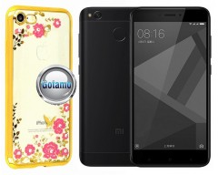 Spring dėklas nugarėlė Xiaomi Redmi 4X telefonams aukso spalvos