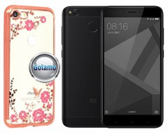 Spring dėklas nugarėlė Xiaomi Redmi 4X telefonams rožinės spalvos