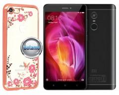Spring dėklas nugarėlė Xiaomi Redmi Note 4, Xiaomi Redmi Note 4X telefonams rožinės spalvos
