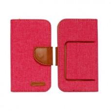 Universalus Canvas dėklas mobiliesiems telefonams su 5.0 colių skersmens ekranu raudonos spalvos