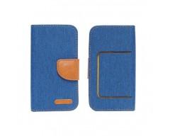 Universalus Canvas dėklas mobiliesiems telefonams su 5.5 colių skersmens ekranu mėlynos spalvos