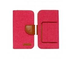 Universalus Canvas dėklas mobiliesiems telefonams su 5.5 colių skersmens ekranu raudonos spalvos