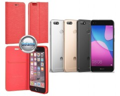 Vennus Diary magnetinis dėklas Huawei P9 Lite mini telefonams raudonos spalvos