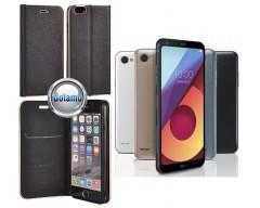 Vennus Diary magnetinis dėklas LG Q6 telefonams juodos spalvos