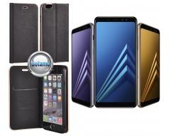 Vennus Diary magnetinis dėklas Samsung Galaxy A8+ (2018) telefonams juodos spalvos