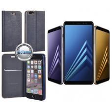 Vennus Diary magnetinis dėklas Samsung Galaxy A8+ (2018) telefonams mėlynos spalvos