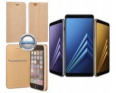Vennus Diary magnetinis dėklas Samsung Galaxy J3 (2017) telefonams aukso spalvos