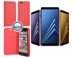 Vennus Diary magnetinis dėklas Samsung Galaxy J3 (2017) telefonams raudonos spalvos