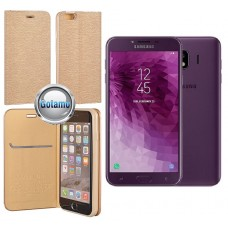 Vennus Diary dėklas Samsung Galaxy J4 (2018) telefonams aukso spalvos Vilnius   Kaunas   Klaipėda