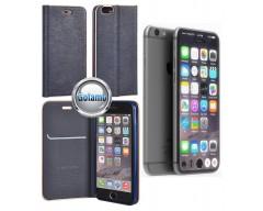 Vennus Diary magnetinis dėklas Apple iPhone 7 8 SE (2020) telefonams mėlynos spalvos