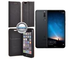 Vennus Diary magnetinis dėklas Huawei Mate 10 Lite telefonams juodos spalvos