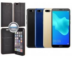 Vennus Diary magnetinis dėklas Huawei Y5 (2018) Huawei Honor 7S telefonams juodos spalvos