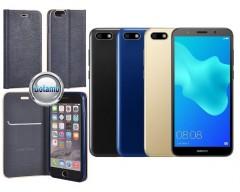 Vennus Diary magnetinis dėklas Huawei Y5 (2018) Huawei Honor 7S telefonams mėlynos spalvos