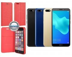 Vennus Diary magnetinis dėklas Huawei Y5 (2018) Huawei Honor 7S telefonams raudonos spalvos
