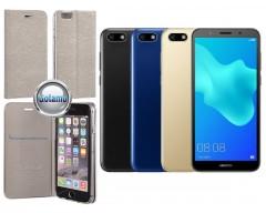 Vennus Diary magnetinis dėklas Huawei Y5 (2018) Huawei Honor 7S telefonams sidabro spalvos