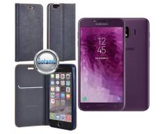 Vennus Diary magnetinis dėklas Samsung Galaxy J4 (2018) telefonams mėlynos spalvos