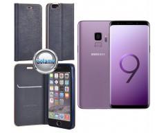 Vennus Diary magnetinis dėklas Samsung Galaxy S9 mobiliesiems telefonams mėlynos spalvos