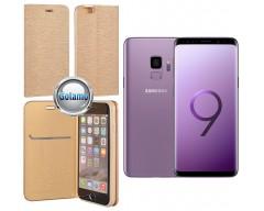 Vennus Diary magnetinis dėklas Samsung Galaxy S9 mobiliesiems telefonams aukso spalvos