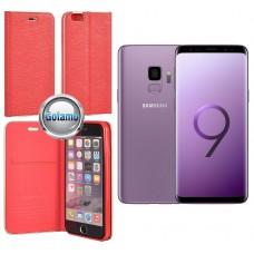 Vennus Diary magnetinis dėklas Samsung Galaxy S9 mobiliesiems telefonams (G960D, G960F, G960N, G960U, G960W) raudonos spalvos Šiauliai | Kaunas | Telšiai