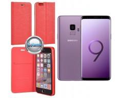 Vennus Diary magnetinis dėklas Samsung Galaxy S9 mobiliesiems telefonams raudonos spalvos