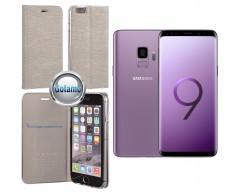 Vennus Diary magnetinis dėklas Samsung Galaxy S9 mobiliesiems telefonams sidabro spalvos