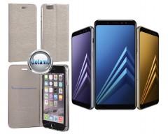 Vennus Diary magnetinis dėklas Xiaomi Redmi Note 5A mobiliesiems telefonams sidabro spalvos