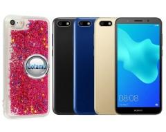 Waterfall dėklas nugarėlė Huawei Y5 (2018) Huawei Honor 7S telefonams rožinės spalvos