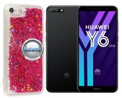 Waterfall dėklas nugarėlė Huawei Y6 (2018) Huawei Honor 7A telefonams rožinės spalvos
