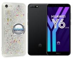 Waterfall dėklas nugarėlė Huawei Y6 (2018) Huawei Honor 7A telefonams sidabro spalvos