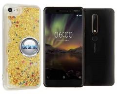 Waterfall dėklas nugarėlė Nokia 6.1 Nokia 6 (2018) telefonams aukso spalvos