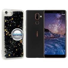 Waterfall dėklas nugarėlė Nokia 7 Plus telefonams juodos spalvos