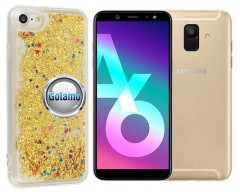 Waterfall dėklas nugarėlė Samsung Galaxy A6 (2018) telefonams aukso spalvos