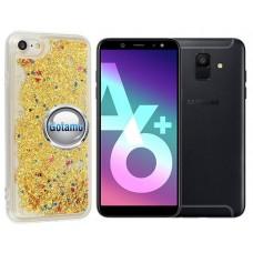 Waterfall dėklas nugarėlė Samsung Galaxy A6+ (2018) telefonams aukso spalvos Plungė | Vilnius | Plungė