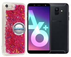 Waterfall dėklas nugarėlė Samsung Galaxy A6+ (2018) telefonams rožinės spalvos