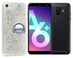 Waterfall dėklas nugarėlė Samsung Galaxy A6+ (2018) telefonams sidabro spalvos