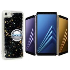 Waterfall dėklas nugarėlė Samsung Galaxy A8 (2018) telefonams juodos spalvos
