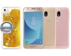 Waterfall dėklas nugarėlė Samsung Galaxy J3 (2017) mobiliesiems telefonams aukso spalvos
