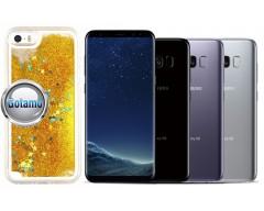 Waterfall dėklas nugarėlė Samsung Galaxy S8 telefonams aukso spalvos