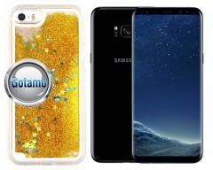 Waterfall dėklas nugarėlė Samsung Galaxy S8+ telefonams aukso spalvos