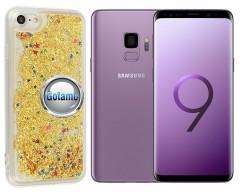 Waterfall dėklas nugarėlė Samsung Galaxy S9 telefonams aukso spalvos