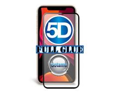 Apsauga ekranui gaubtas grūdintas stiklas Apple iPhone 11 mobiliesiems telefonams juodos spalvos 5D pilnas padengimas klijais