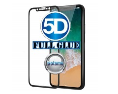 Apsauga ekranui gaubtas grūdintas stiklas Apple iPhone X Xs mobiliesiems telefonams juodos spalvos 5D pilnas padengimas klijais